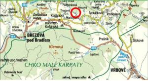mapa myjavskych kopanic